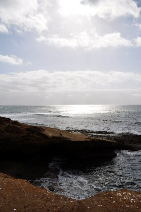 Sunset Cliffs Natural Park, where the skies cleared and the sun came beaming down.