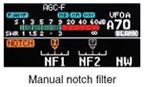 Manual notch filter