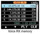 Voice RX memory