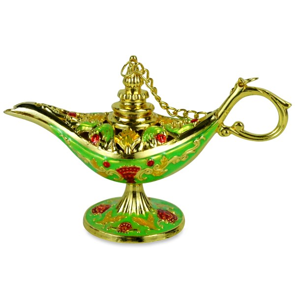 Ornate Aladin Magic Genie Lamp Oil Incense Burner