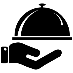 icon food waiter restaurant dining transparent dome icons malabari chicken svg meal services worker export campus resources foods
