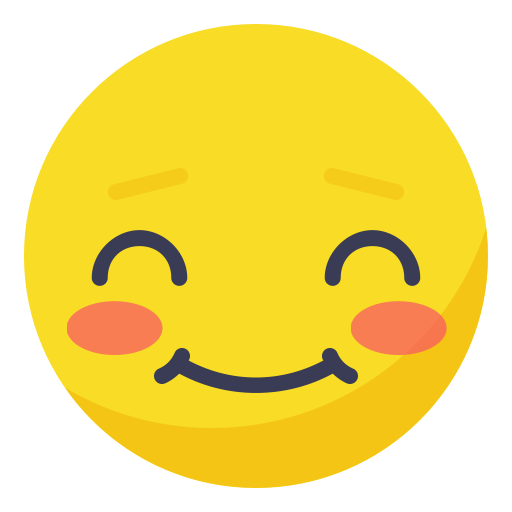 Smiley emo emoticon senyum bahagia memalukan Gratis