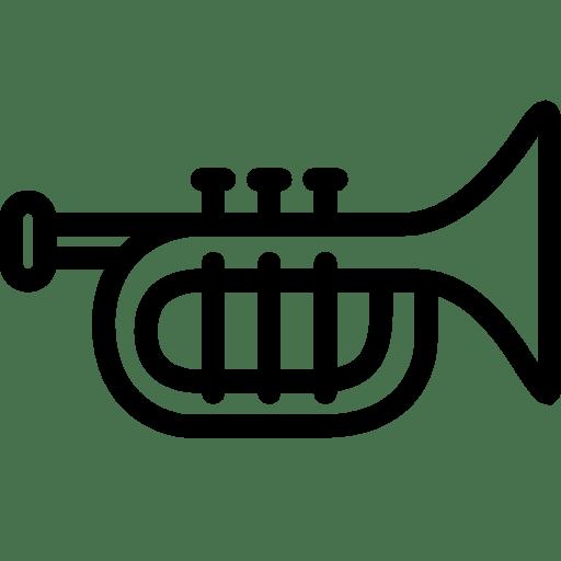 Trumpet music, trompet Icon Free of iOS7 Minimal Icons