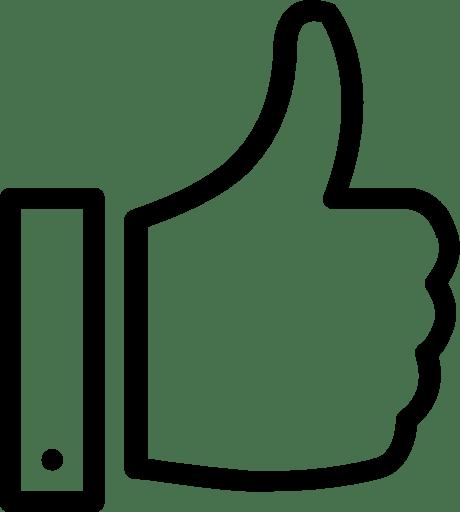 Seperti jempol naik tangan sosial media Gratis Ikon