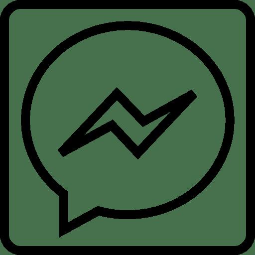 Social, messenger, outline Icon Free of Social Media Outline