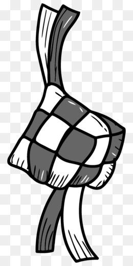 Gambar Ketupat Hitam Putih : gambar, ketupat, hitam, putih, Ketupat, Black, White, Transparent, Clipart, Download., CleanPNG, KissPNG