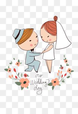 Pengantin Vektor Png : pengantin, vektor, Download, Bride, Groom, Cartoon, CleanPNG, KissPNG