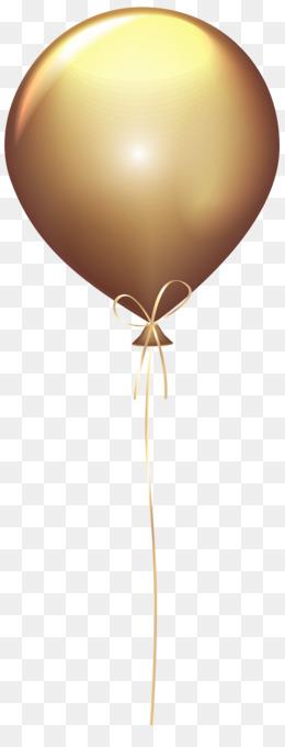 balloon gold clip art - transparent