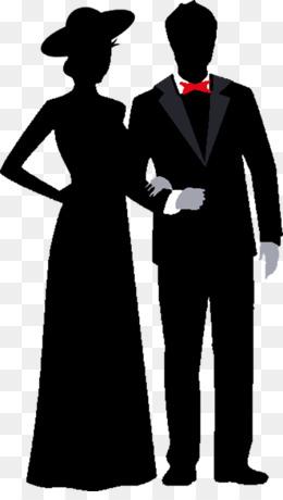 prom silhouette clip art - vector