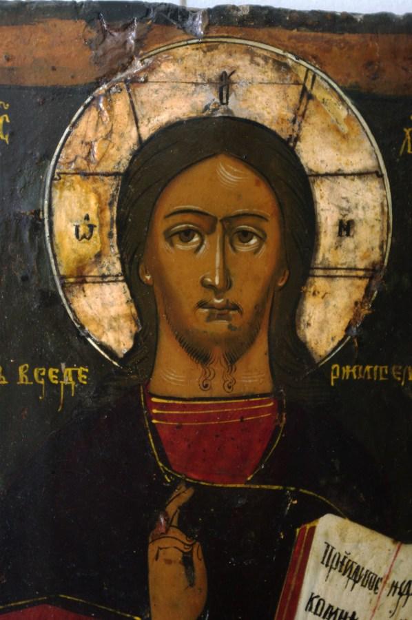 Образа Спаса Вседержителя 19 века после реставрации. Фрагмент личного