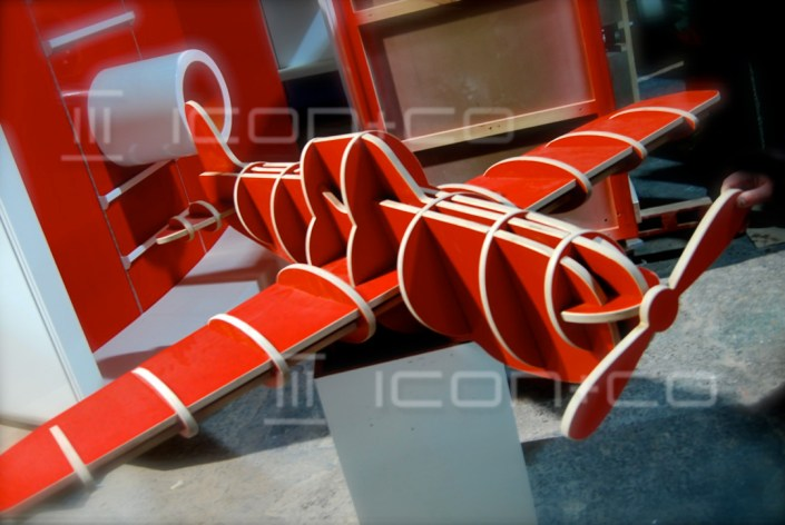 creative cnc cutting, Carpentry & CNC, cut display props cnc services cutting, children's bedrooms, kids themed interiors, airplane, giant toy aeroplane plane