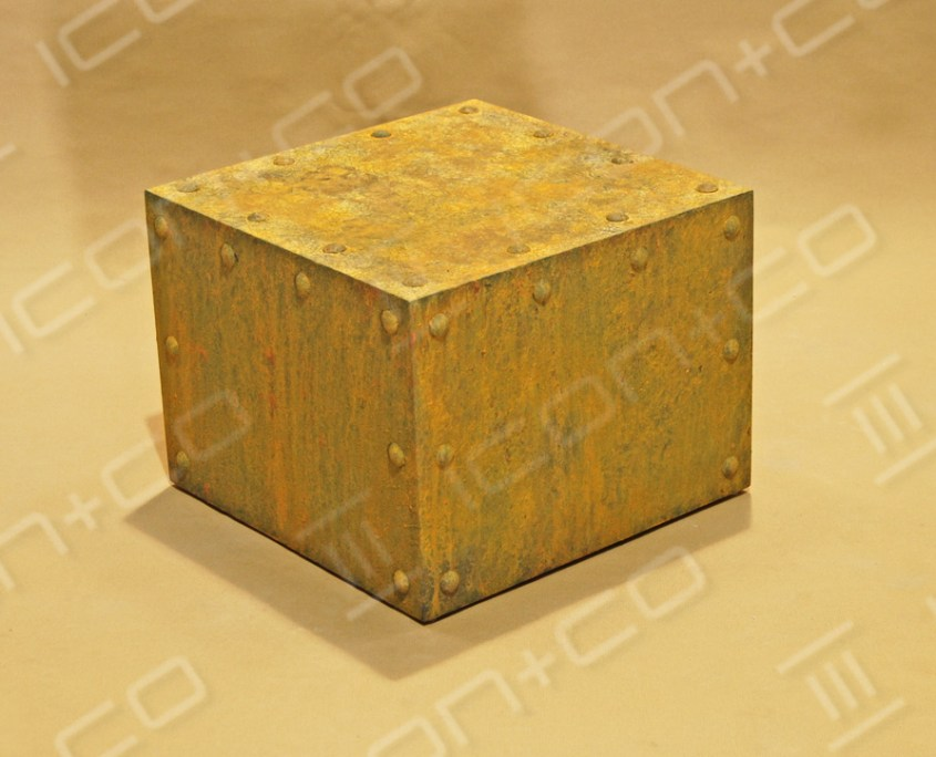 Rusty mdf display plinth, rusted, textured, mannequin base box, storage, urban vintage, distressed effect. faux rust, fake, paint effects