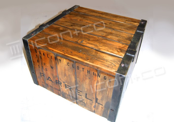 display plinths, iron-work, recycled timber, upcycled, mannequin base, plinth, boxes, platform, industrial vintage shabby chic, pallet timber, displayprops, Robbie Williams, Farrell