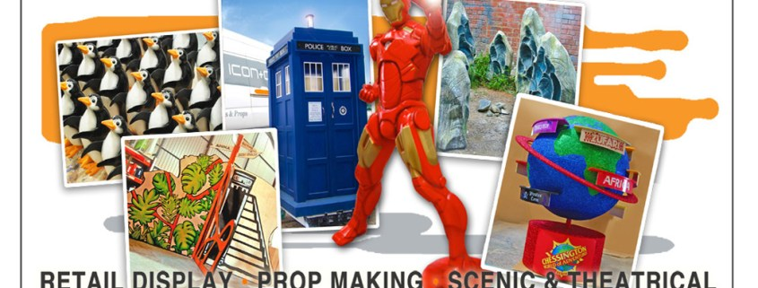 retail display & prop making, display artists, prop makers, carpentry & joinery, giant props, south wales uk, film movie tv sets props