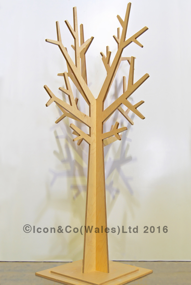 display tree plywood ply plyboard, Autumn winter xmas christmas tree, wedding photo studio prop, decorative tree display props, Full-size MDF display trees, off the shelf props, fall, autumnal, stylised, mdf display feature, shop retail store window scheme, flat-pack, interlocking self-assembly
