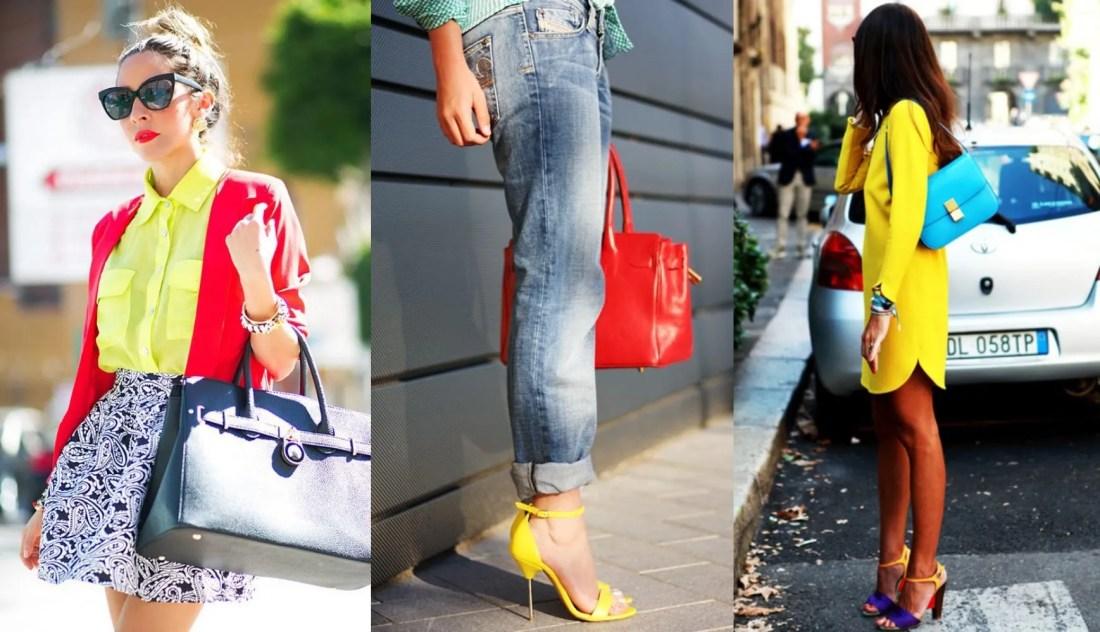 amarillo azul y rojo