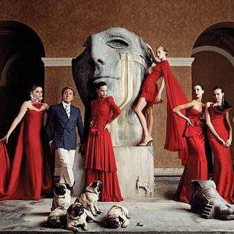vestido rojo valentino