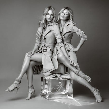 Cara Delevingne-Kate Moss Burberry