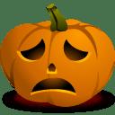 sad pumpkin icon clipart