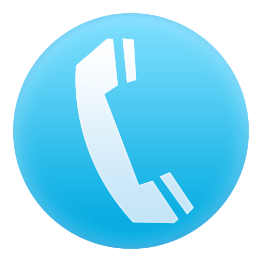 blue phone circle icon