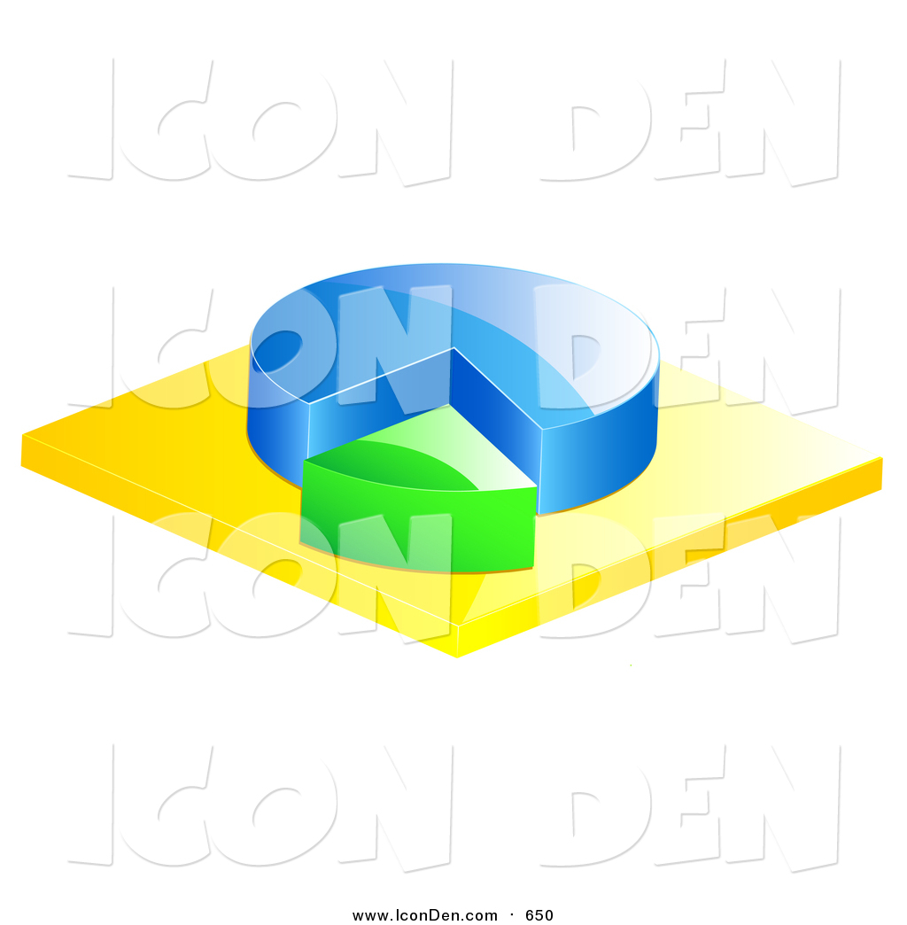 hight resolution of clip art of a 3d blue and green pie chart