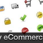 glossy ecommerce icones
