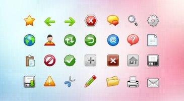 Toolbar icônes