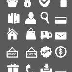 minimal ecommerce icones
