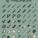 icônes vintage design