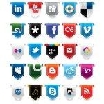 social media vectorielle icones