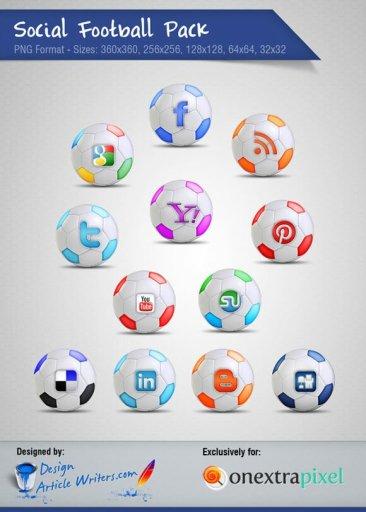 Football Social Icones