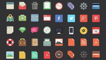 Flat designer icones