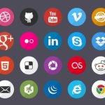 free flat social icons