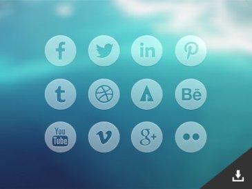 Icones sociales transparentes