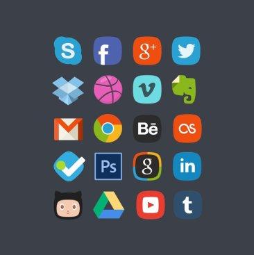 20 social media badges