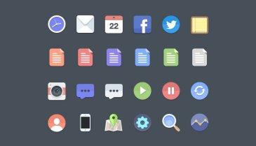 24 Flat icones