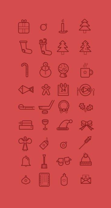 35 christmas icons