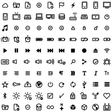 Icônes UI vector