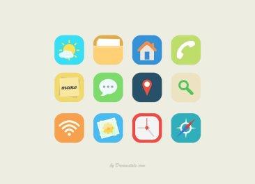 12 icônes flat