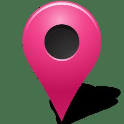map marker outside pink