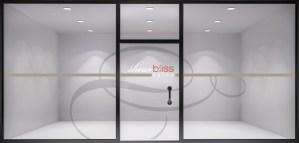 Logo & window design for Shear Bliss Salon.