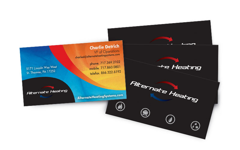Business cards icon graphics alternate heating business cards colourmoves