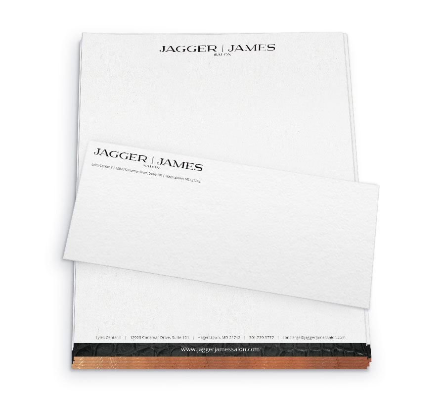 Letterhead and business envelope design.