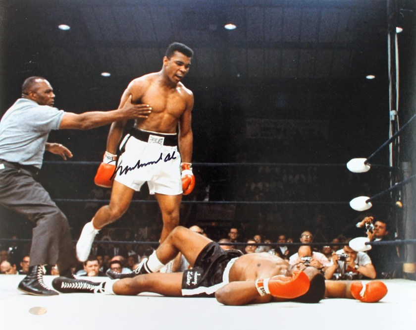 """lot detail  muhammad ali signed 16"""" x """" color photo"""