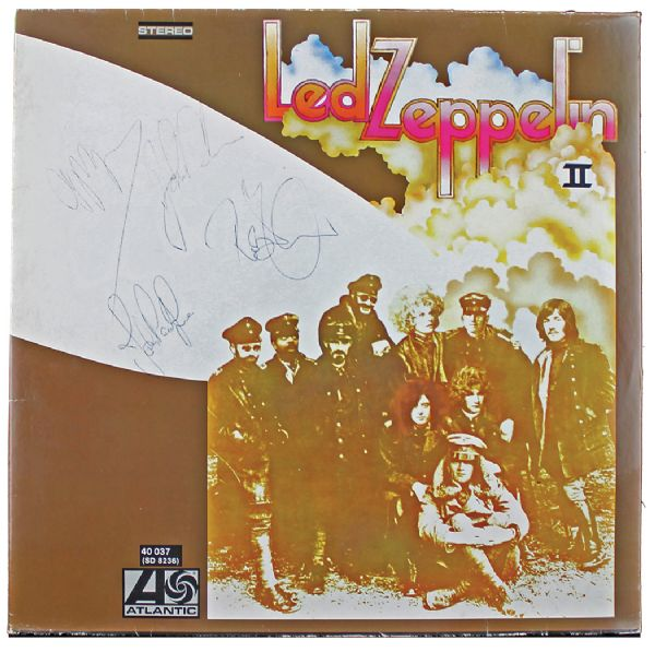 Lot Detail  Led Zeppelin Ultra Rare Group Signed Led Zeppelin II Album with John Bonham PSADNA