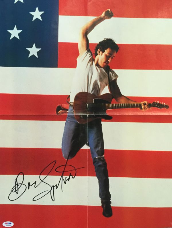 """Lot Detail - Bruce Springsteen Beautiful Signed 16"""" X 22"""