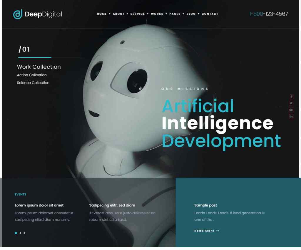 Deep Digital – Web Design Agency WordPress Theme