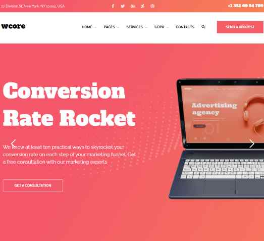 wCore – Web Design Agency Template