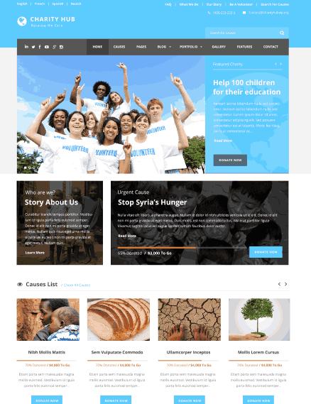 Charity Hub a NGO, Nonprofit & Fundraising WordPress