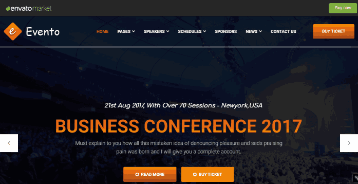 Evento an Events, Conference, and Hackathon Organiser Website Template